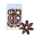 invisibobble Nano Pretzel Brown Hair Ring (3 pack)