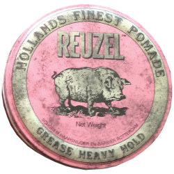 4OZ PINK HEAVY GREASE POMADE REUZEL