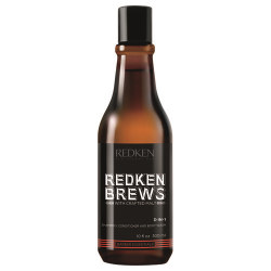 Redken Brews 3-in-1 Shampoo, Conditioner and Body Wash 300ml